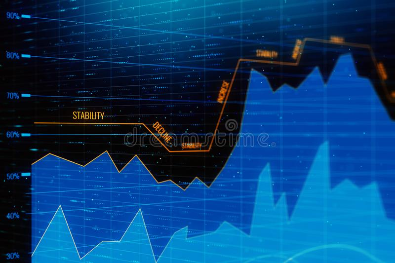投资和财务纹理 皇族释放例证
