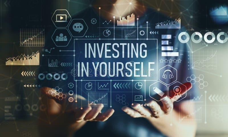 投资在你自己与人 库存图片