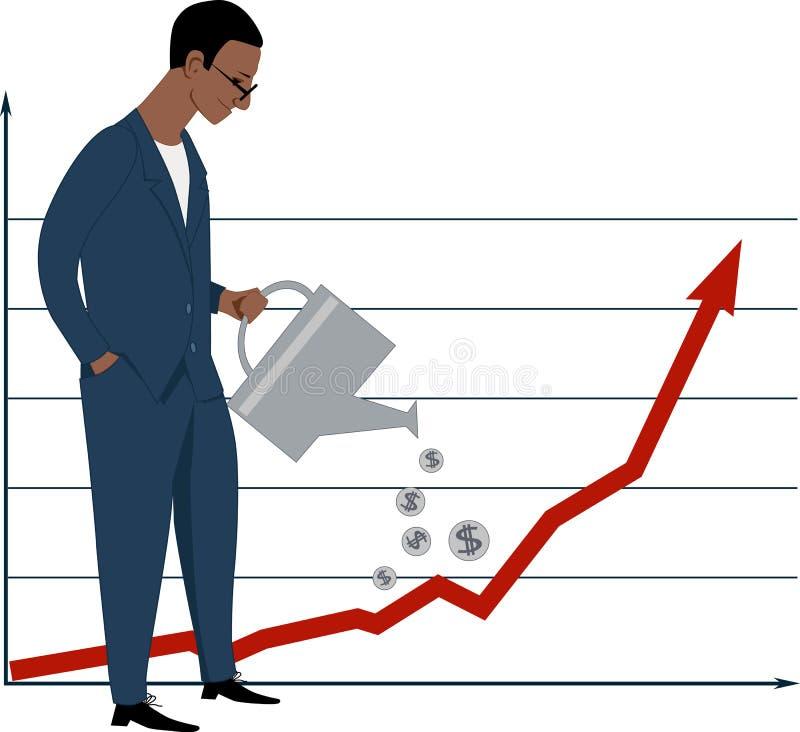 投资在股市上 库存例证