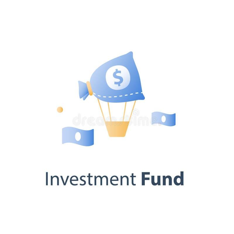 投资基金,财政概念,新的企业想法,开始金钱,资本管理 库存例证