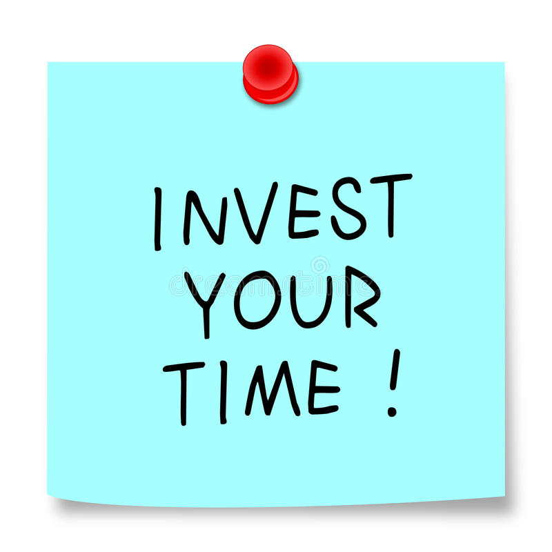 投资您的时间! 免版税库存照片