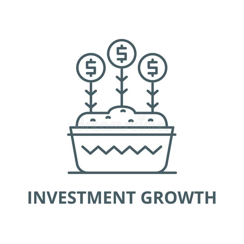投资成长传染媒介线象,线性概念,概述标志,标志 皇族释放例证