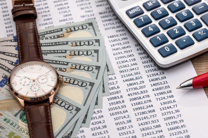 投资或会计概念 免版税库存图片