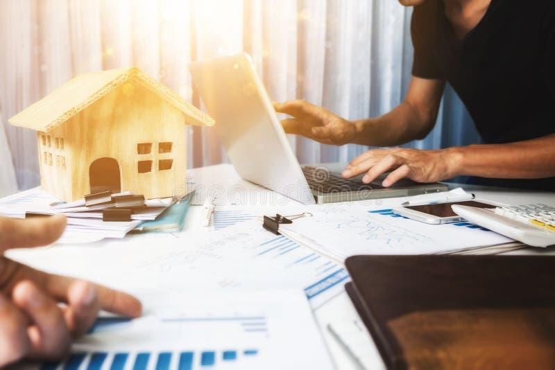 投资房地产和物产概念 免版税库存照片
