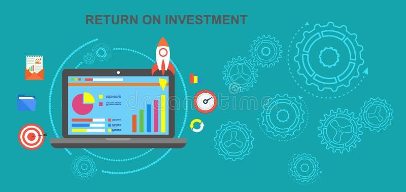 投资收入,净盈利的回收投资,日程表,被投资的资金成功的转交  作为背景诱饵概念美元灰色吊异常分支 库存例证