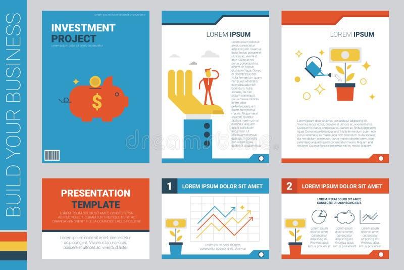 投资方案书套和介绍模板 皇族释放例证