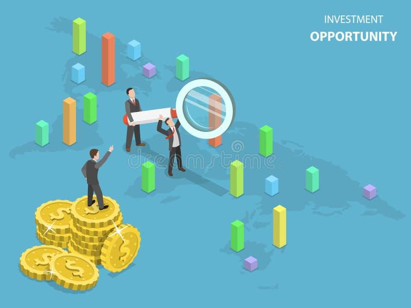 投资机会平的等量传染媒介 库存例证