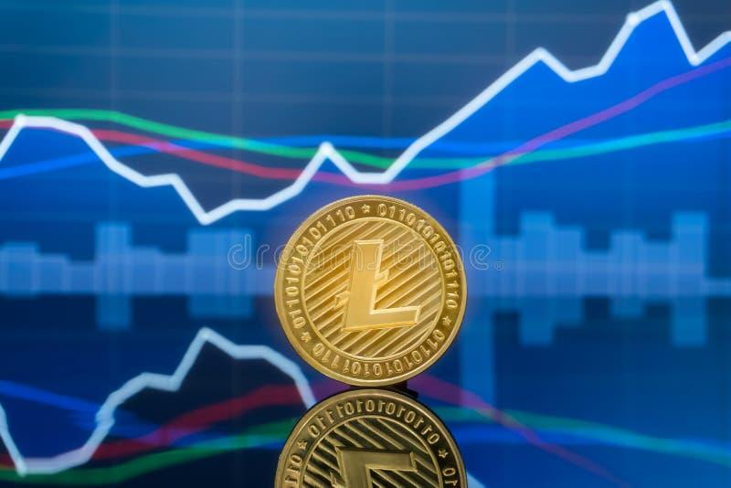 投资概念的Litecoin和cryptocurrency 图库摄影