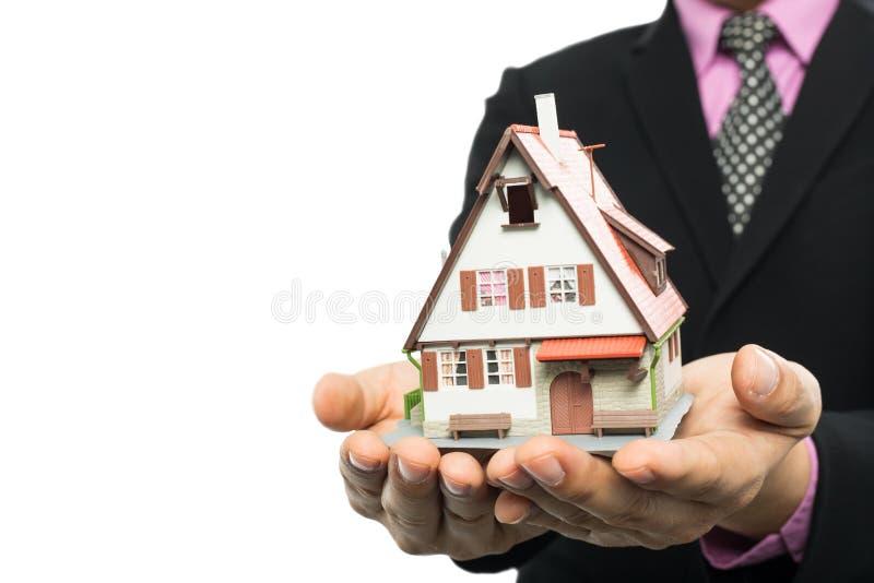 投资的代理展示房地产 库存照片