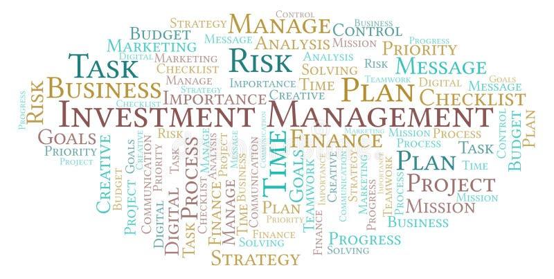 投资管理词云彩,做用仅文本 向量例证