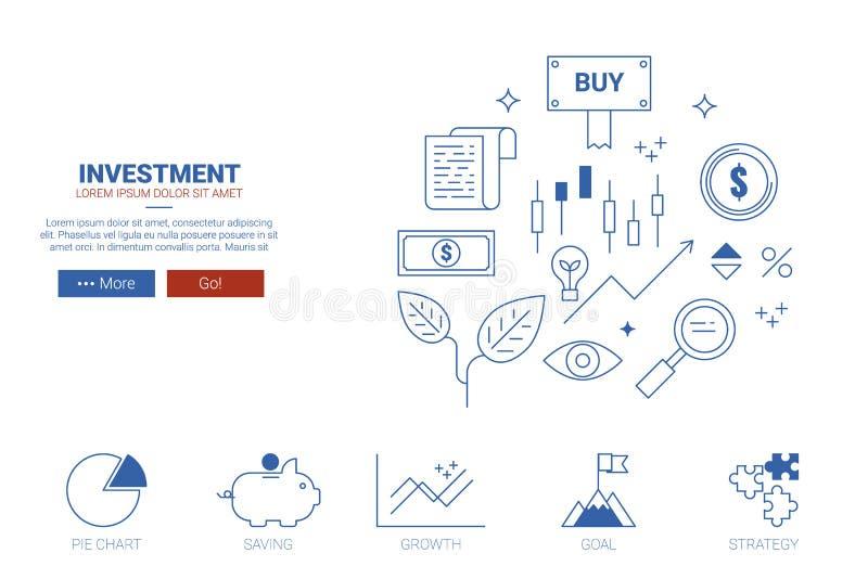 投资网站概念 库存例证