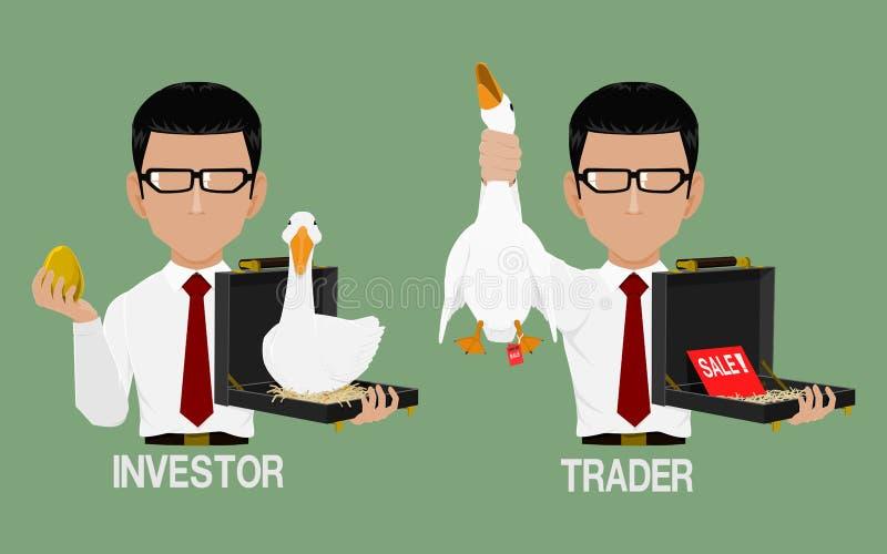 投资者和贸易商象 皇族释放例证