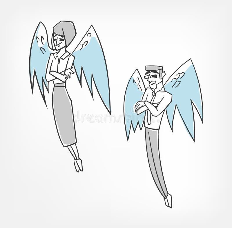 投资者天使导航概念字符例证剪贴美术 皇族释放例证