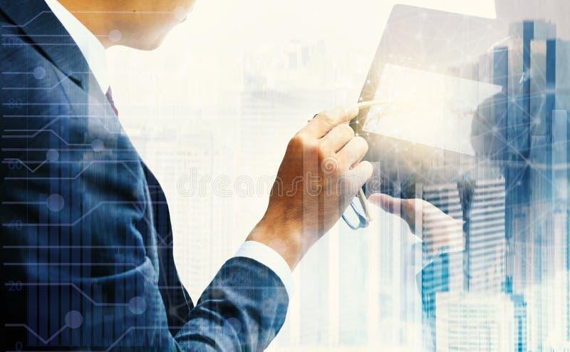 投资贸易商在股市上 免版税库存图片