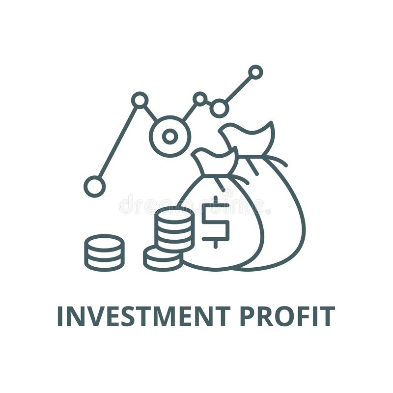 投资赢利传染媒介线象,线性概念,概述标志,标志 向量例证