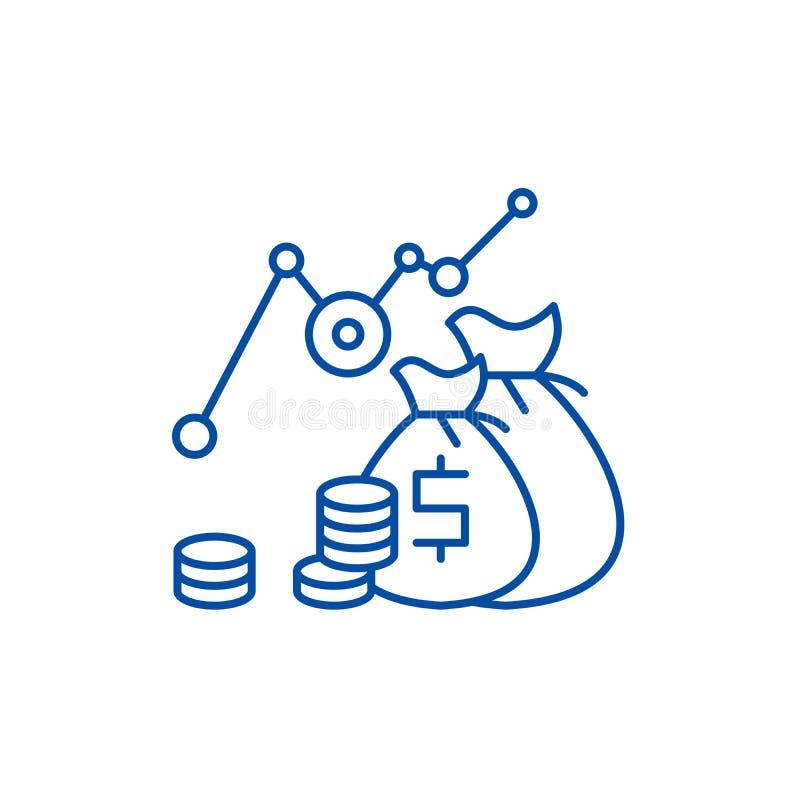投资赢利线象概念 投资赢利平的传染媒介标志,标志,概述例证 向量例证