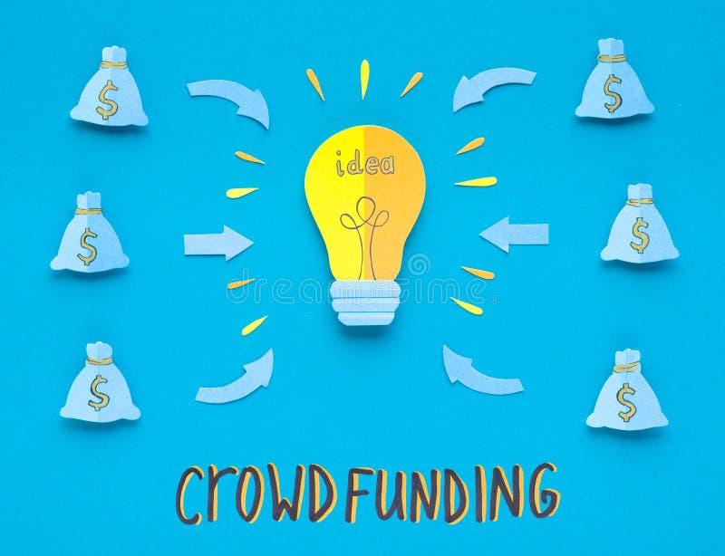 投资金钱的创造性的概念在新的企业想法 免版税图库摄影
