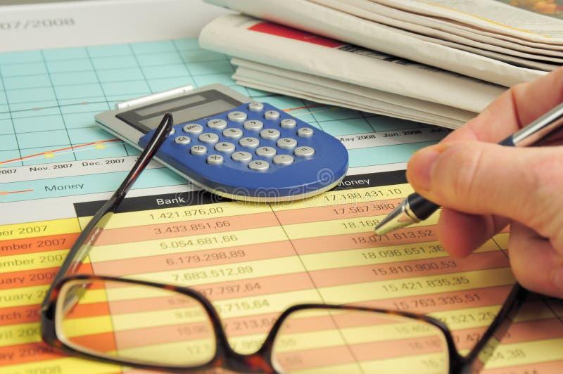 投资页 免版税库存照片