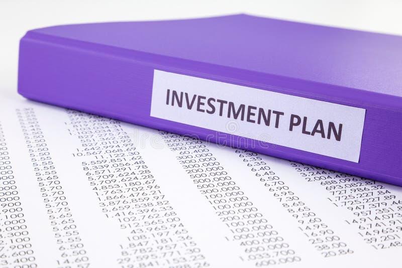 投资项目的财政报告 免版税库存图片