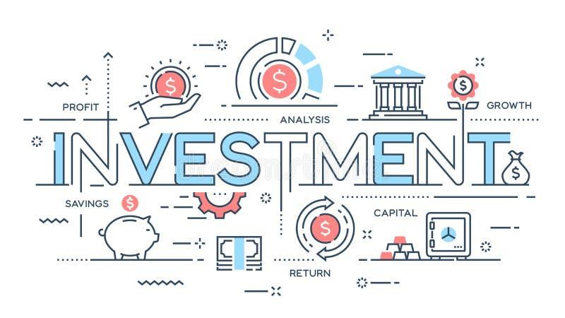 投资,战略,赢利,资本,成长,储款变薄线 库存例证