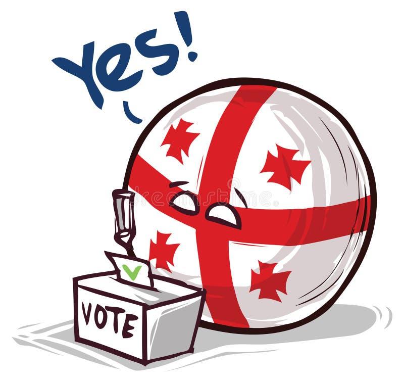 投赞成票乔治亚的国家 向量例证