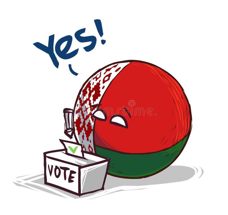 投赞成票白俄罗斯的国家 向量例证