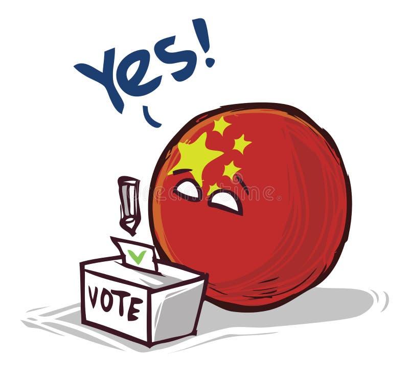 投赞成票的中国 皇族释放例证