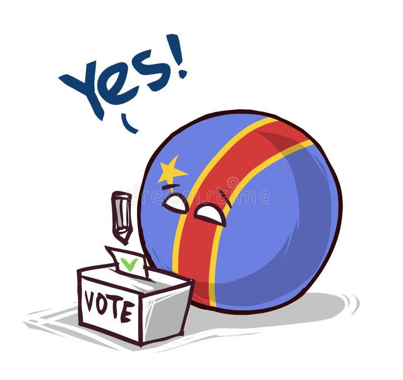 投赞成票的刚果 皇族释放例证