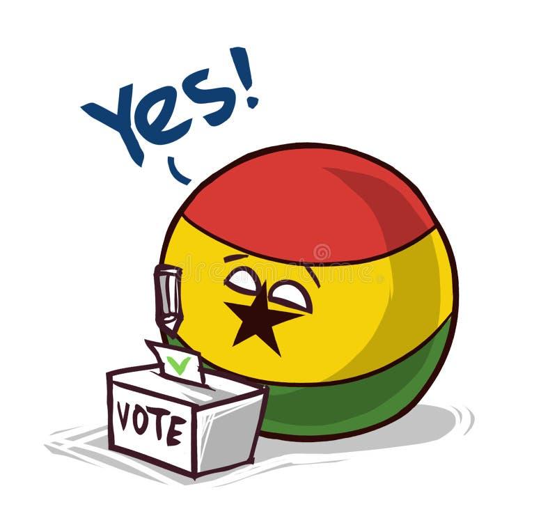 投赞成票的加纳 库存例证