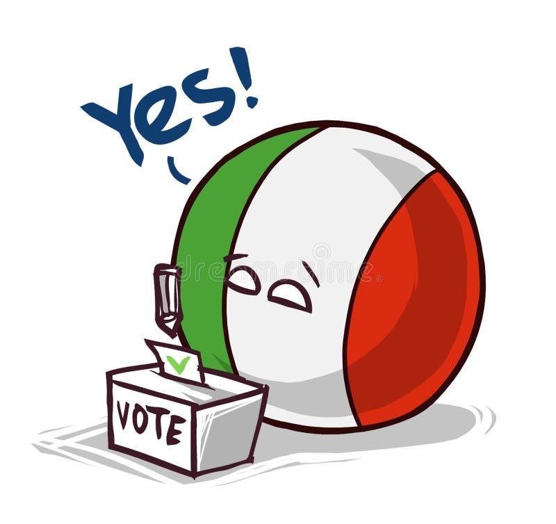 投赞成票的意大利 皇族释放例证