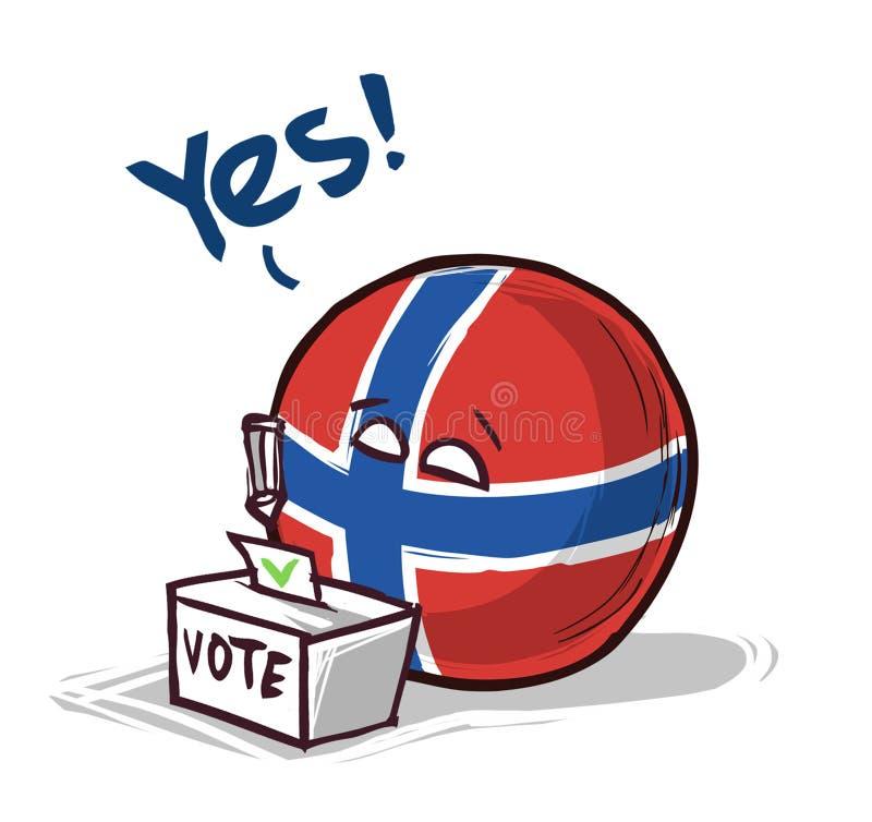 投赞成票的挪威 皇族释放例证