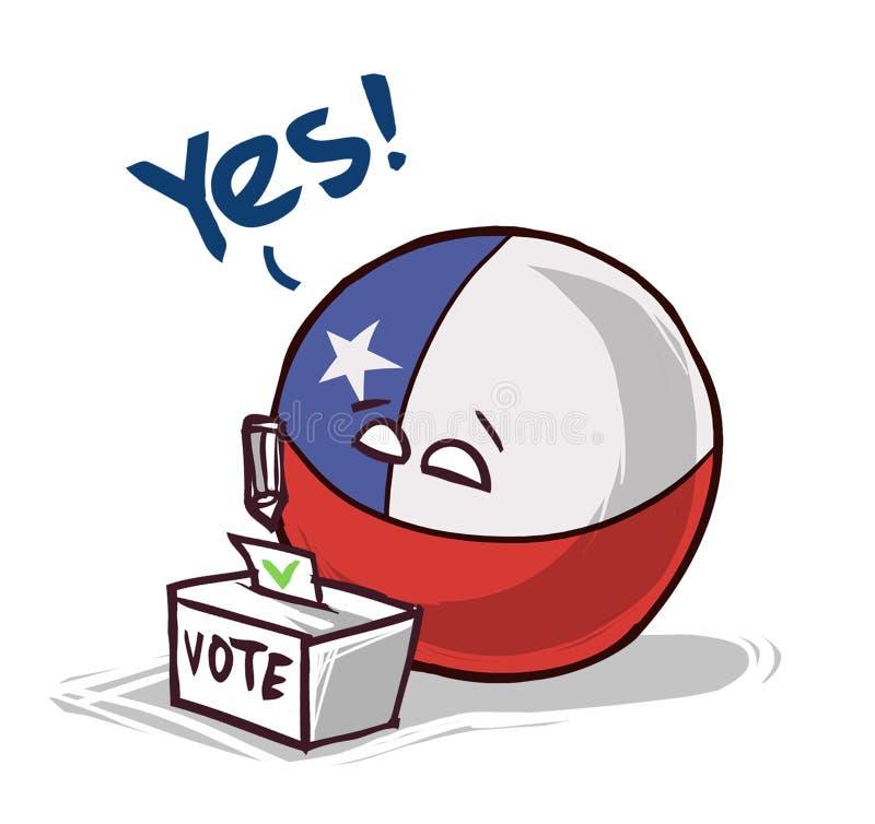 投赞成票的智利 向量例证