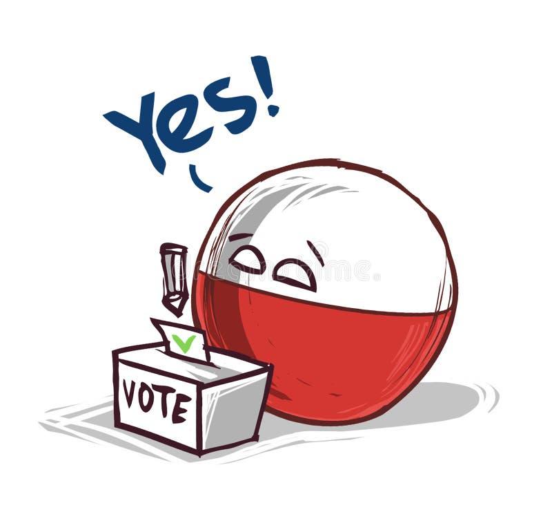 投赞成票的波兰 向量例证