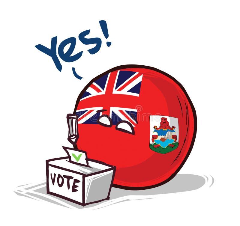 投赞成票的百慕大群岛 库存例证