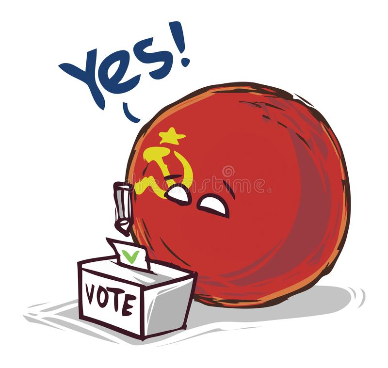投赞成票苏联的国家 库存例证