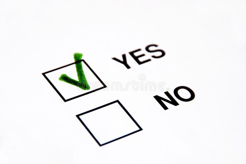 投赞成票 免版税库存图片