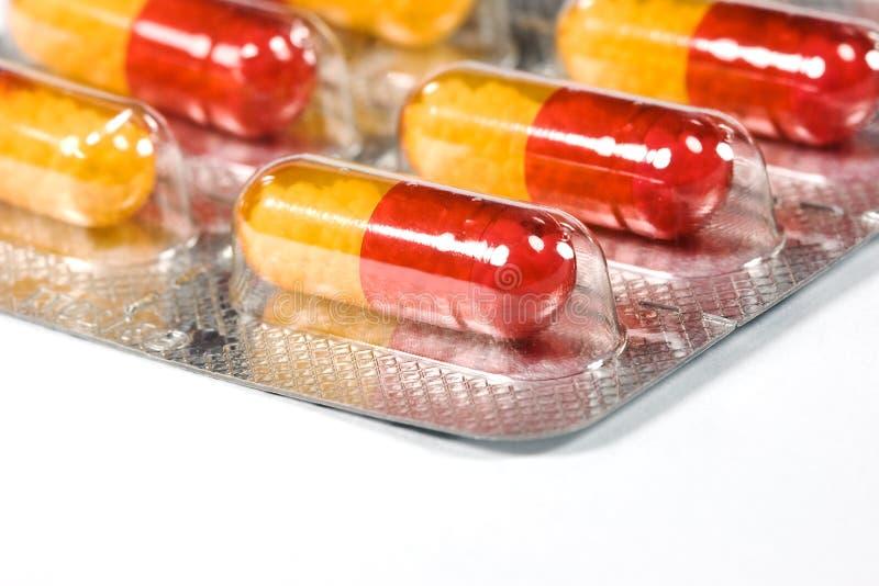 抗药性程序包药片 库存图片
