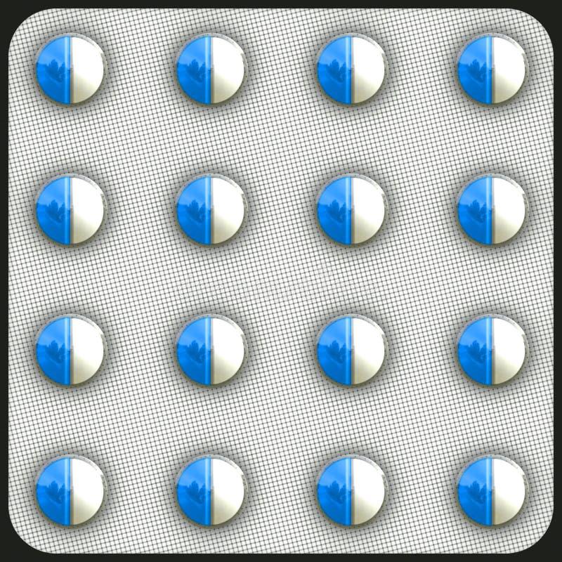 抗药性药片 库存例证