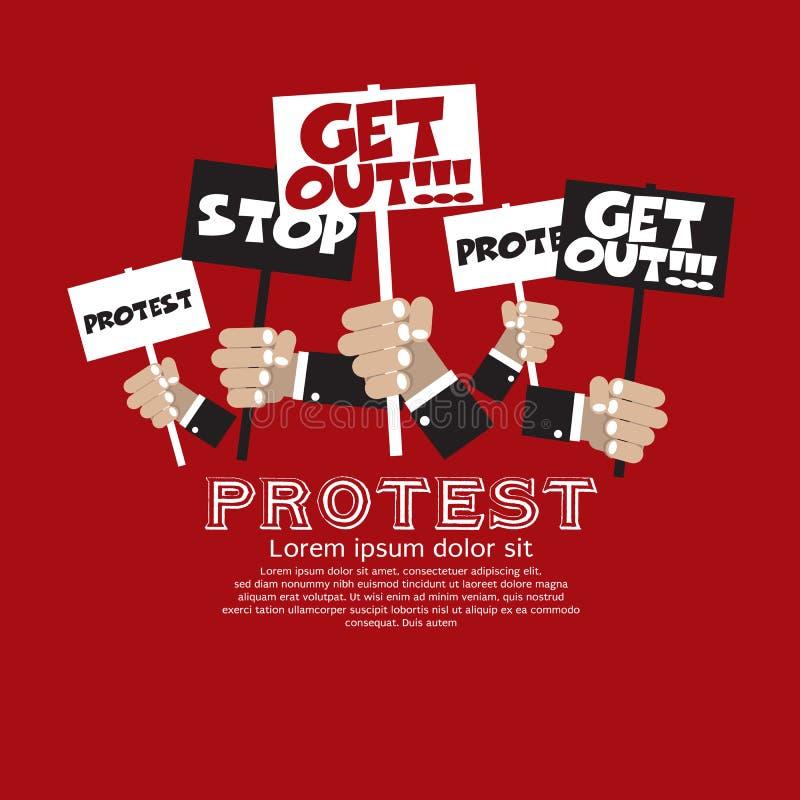 抗议。 库存例证