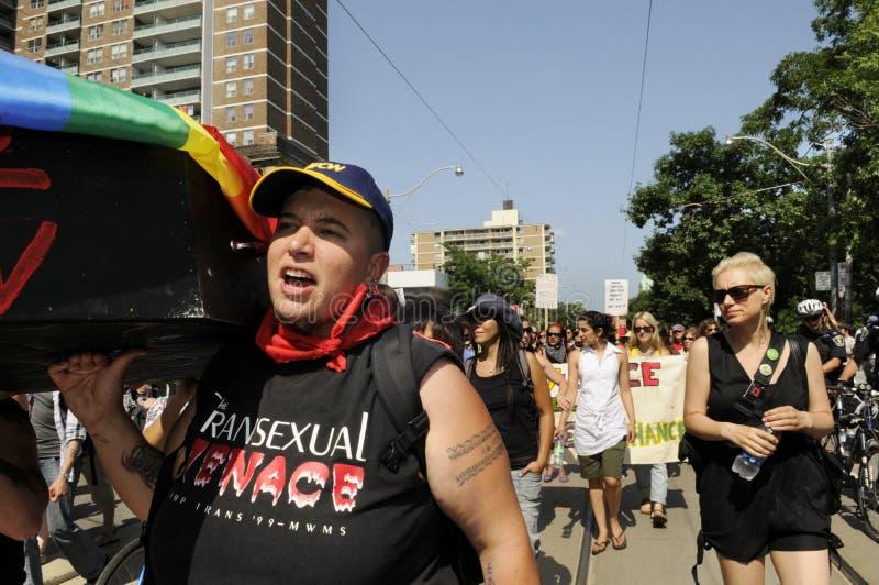 抗议在多伦多。 免版税库存图片