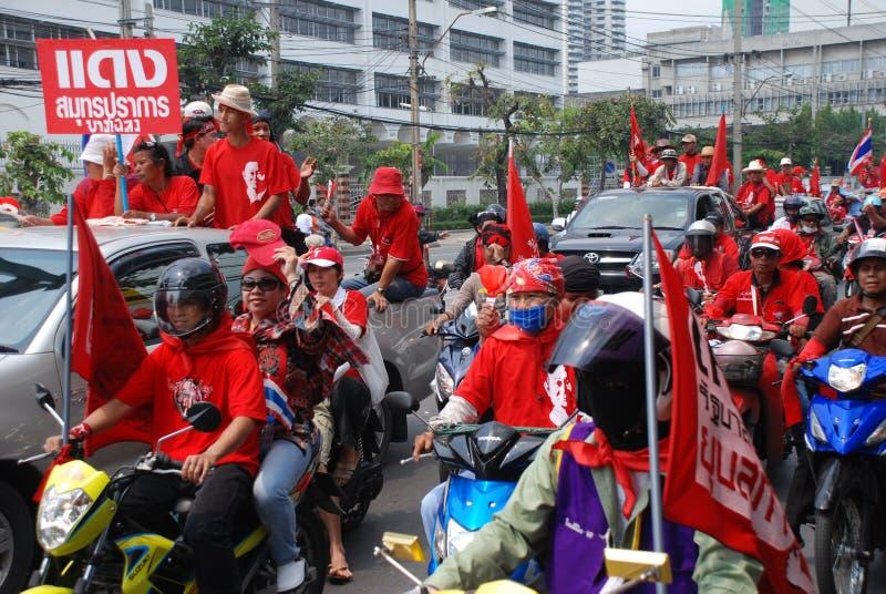 抗议者红色衬衣符号 库存图片