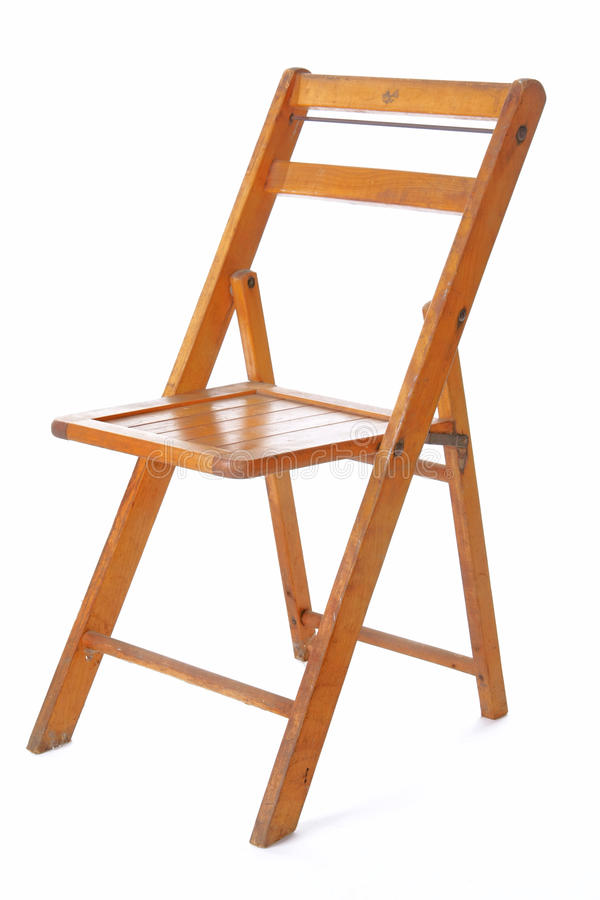 折叠减速火箭木的椅子 免版税库存照片