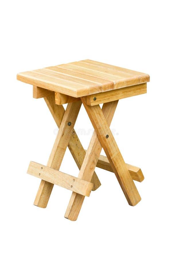 折叠的木椅子。 库存图片