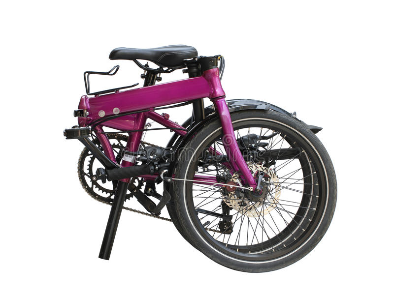 折叠的自行车 免版税库存照片