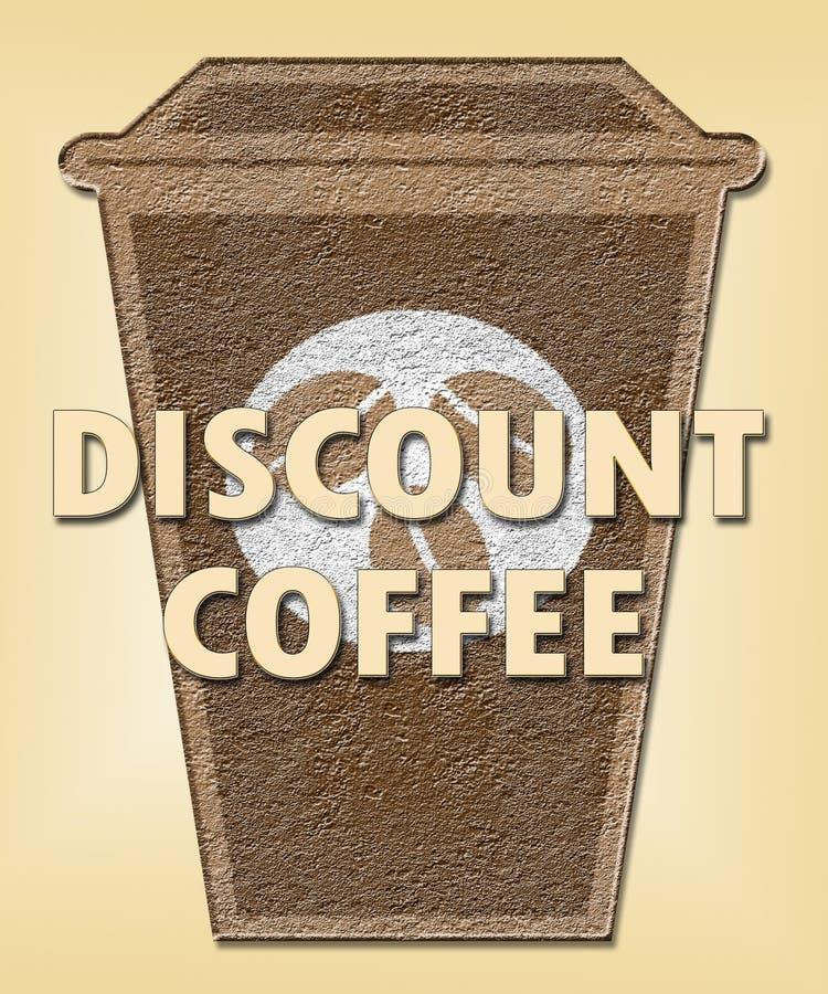 折扣咖啡意味交易或便宜的饮料 库存例证