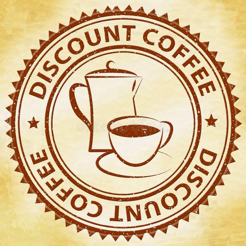 折扣咖啡意思交易或便宜的饮料 向量例证