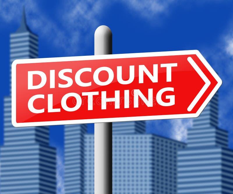 折扣衣物意味便宜的衣裳3d例证 向量例证