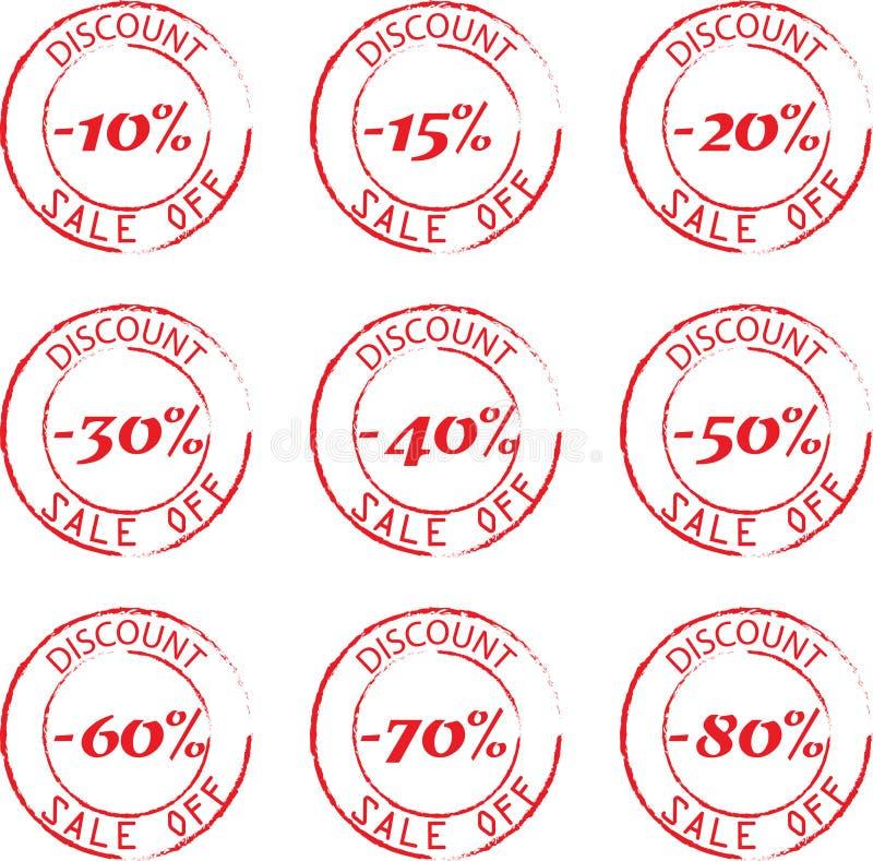 折扣邮票被设置的传染媒介例证 向量例证