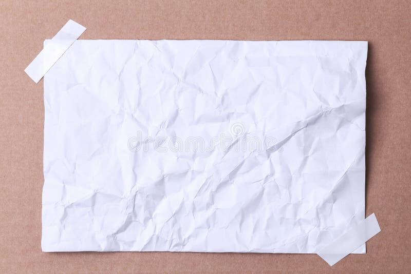 折皱多的纸 免版税库存照片