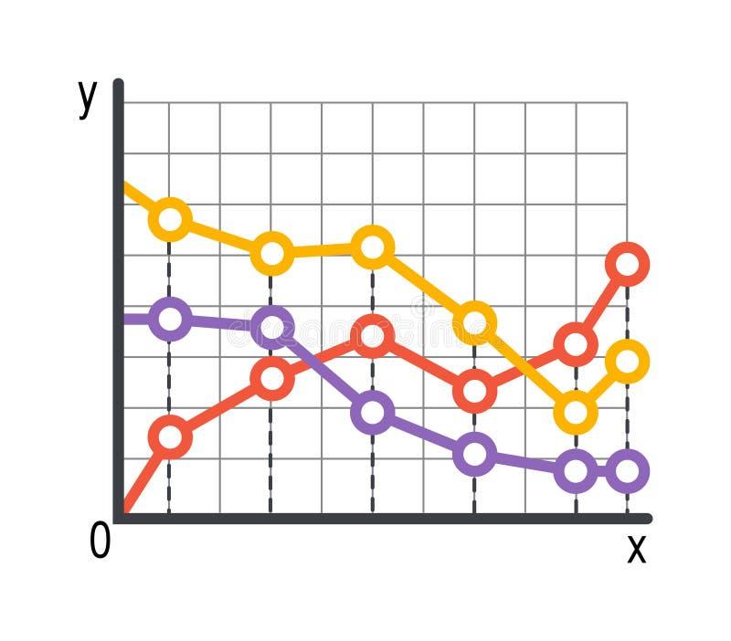 折线图infographics传染媒介 向量例证